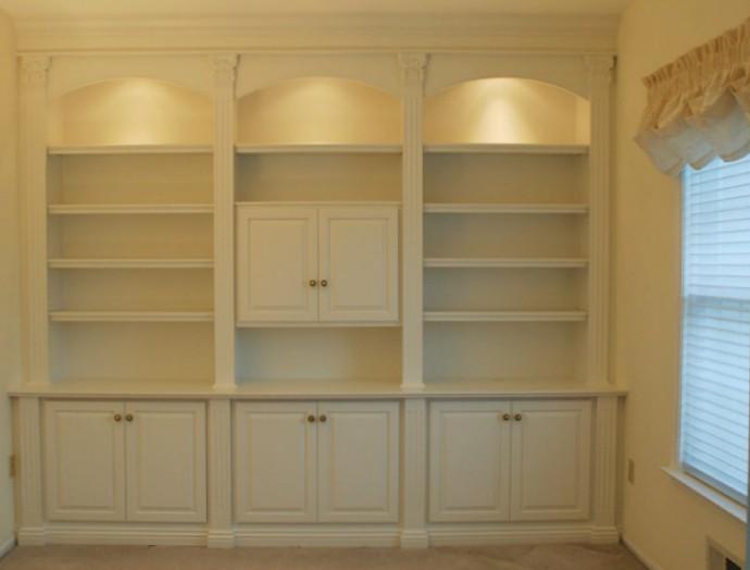 librerie bianche a muro
