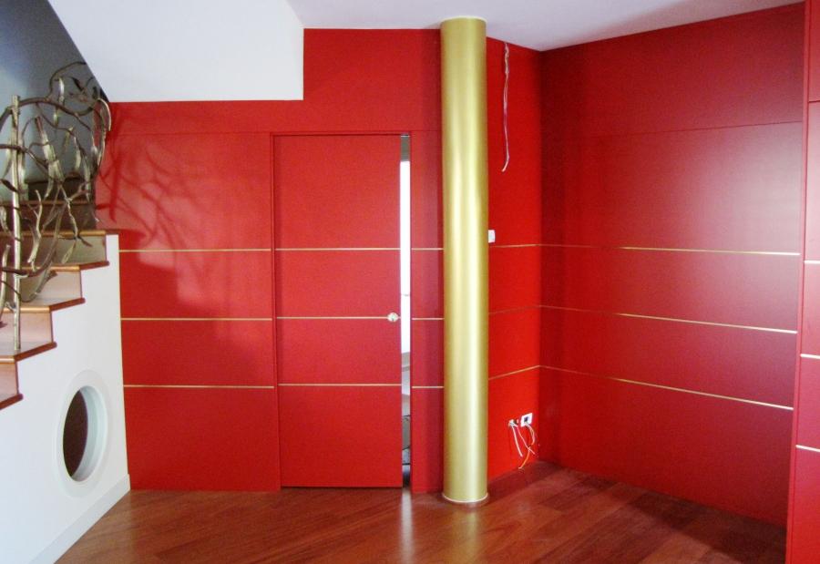 pareti in boiserie laccate