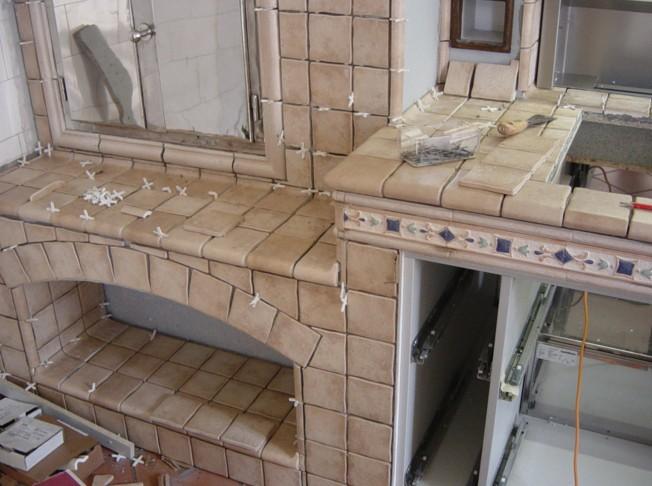 Cucine in finta muratura Roma-Costruite a regola d\'arte