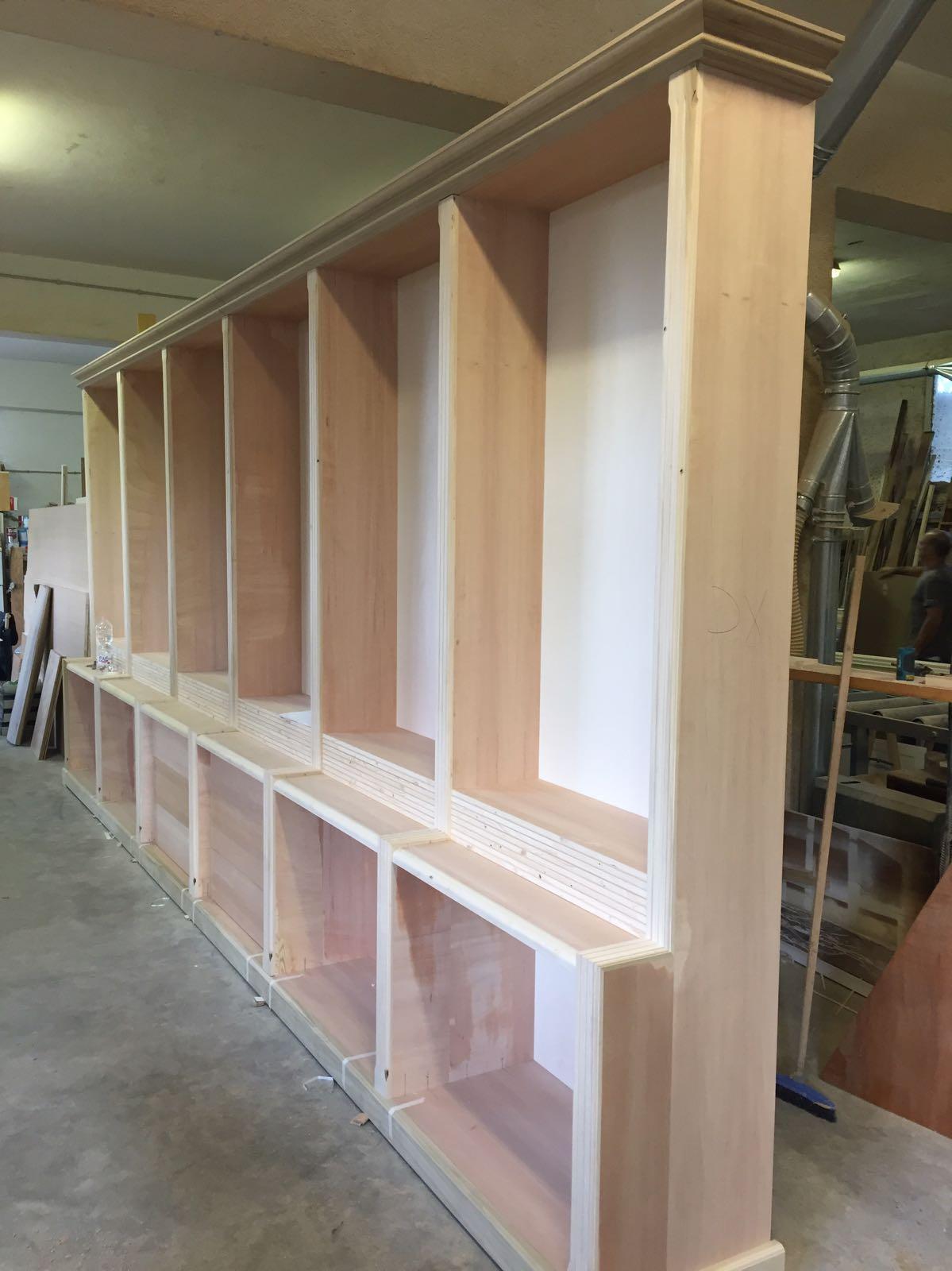 librerie su misura legno