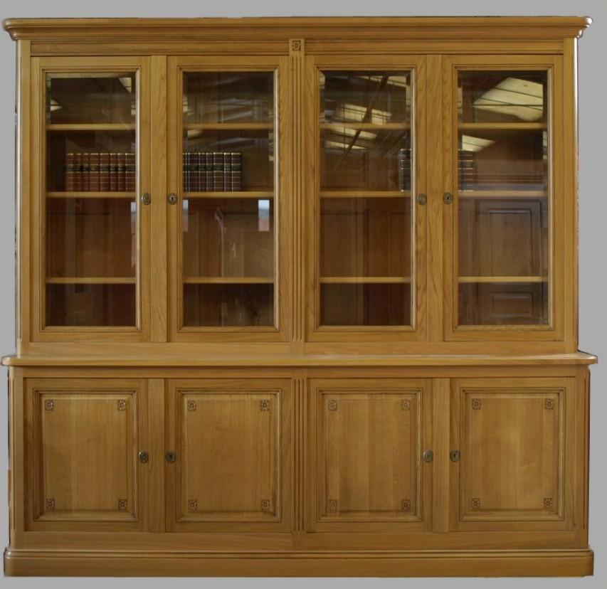 mobile libreria con vetri per studio roma