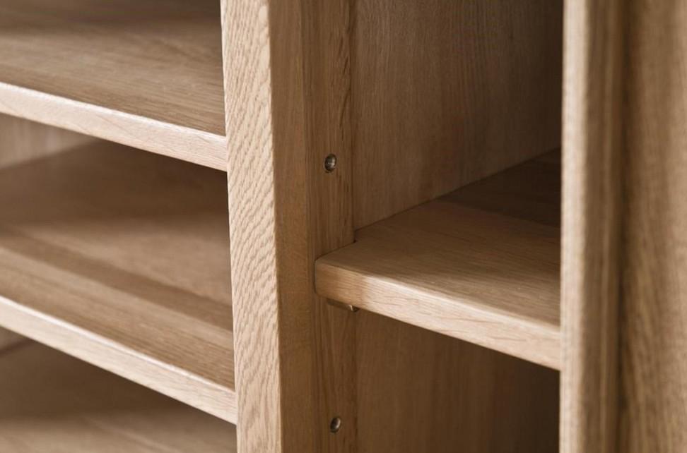 librerie su misura legno ripiani solidi