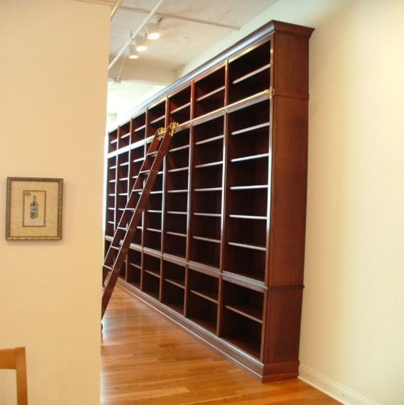 libreria a parete per studio roma