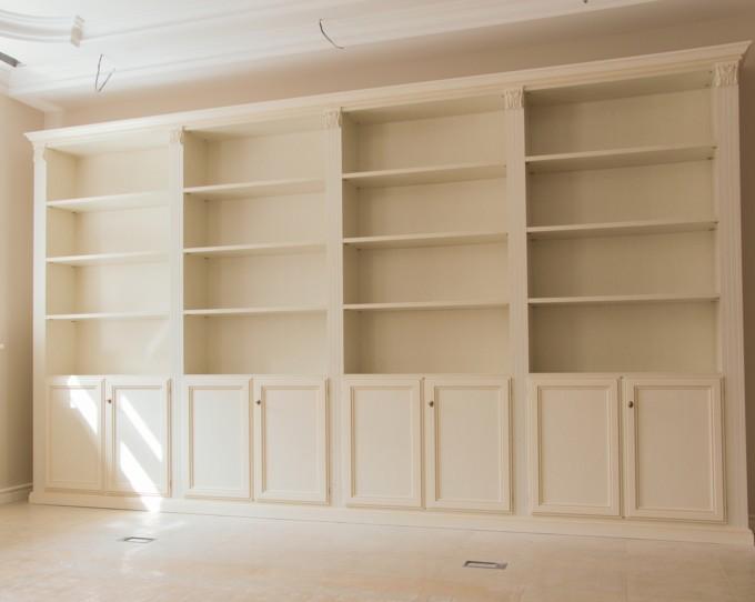 librerie in legno laccato bianco