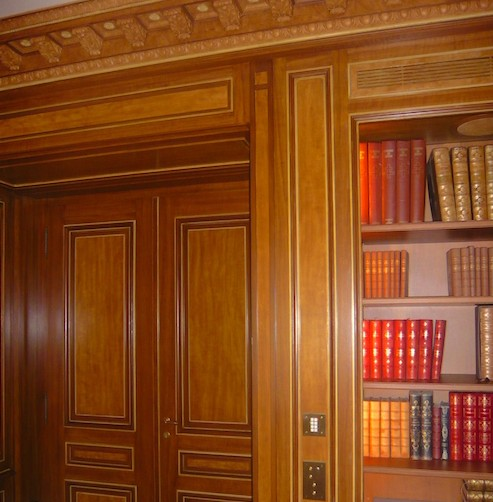 Librerie su misura con boiserie