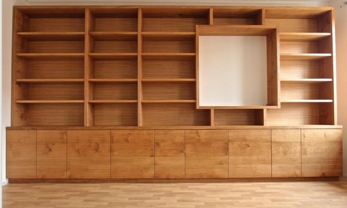Librerie su misura in legno chiaro