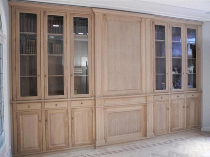 librerie su misura con ante a vetro