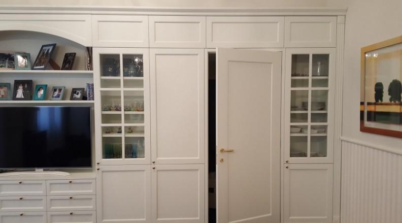 librerie laccate bianche roma