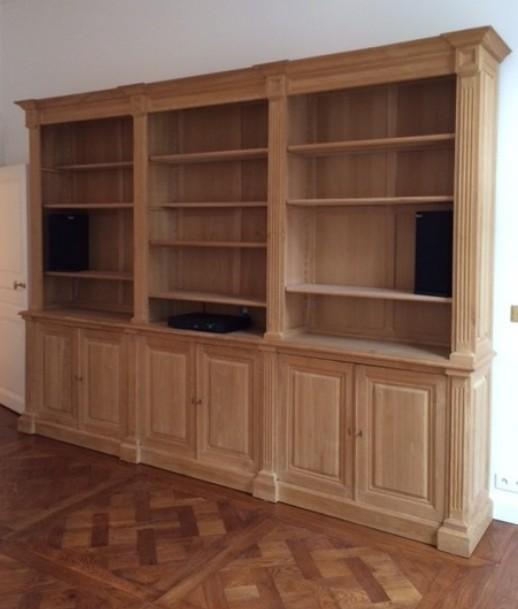 librerie su misura in legno rovere Firenze