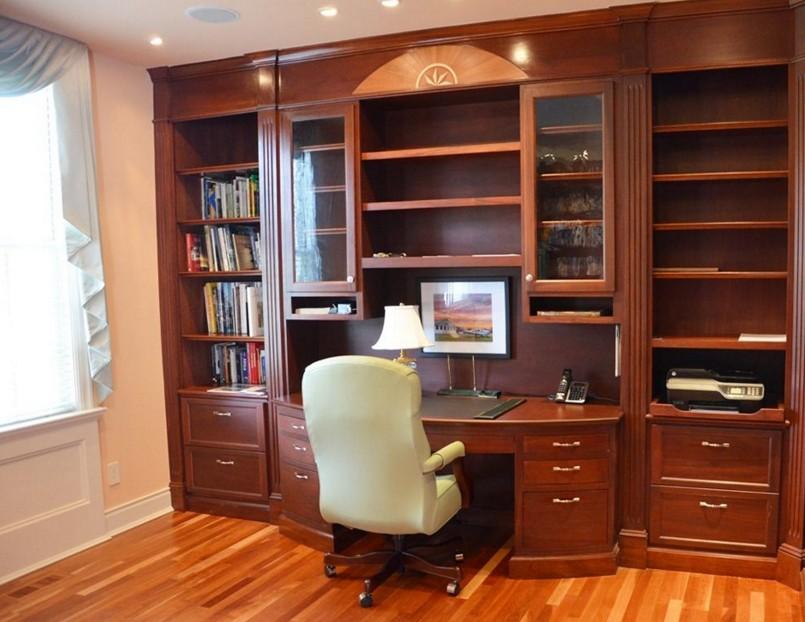 parete libreria con scrivania firenze
