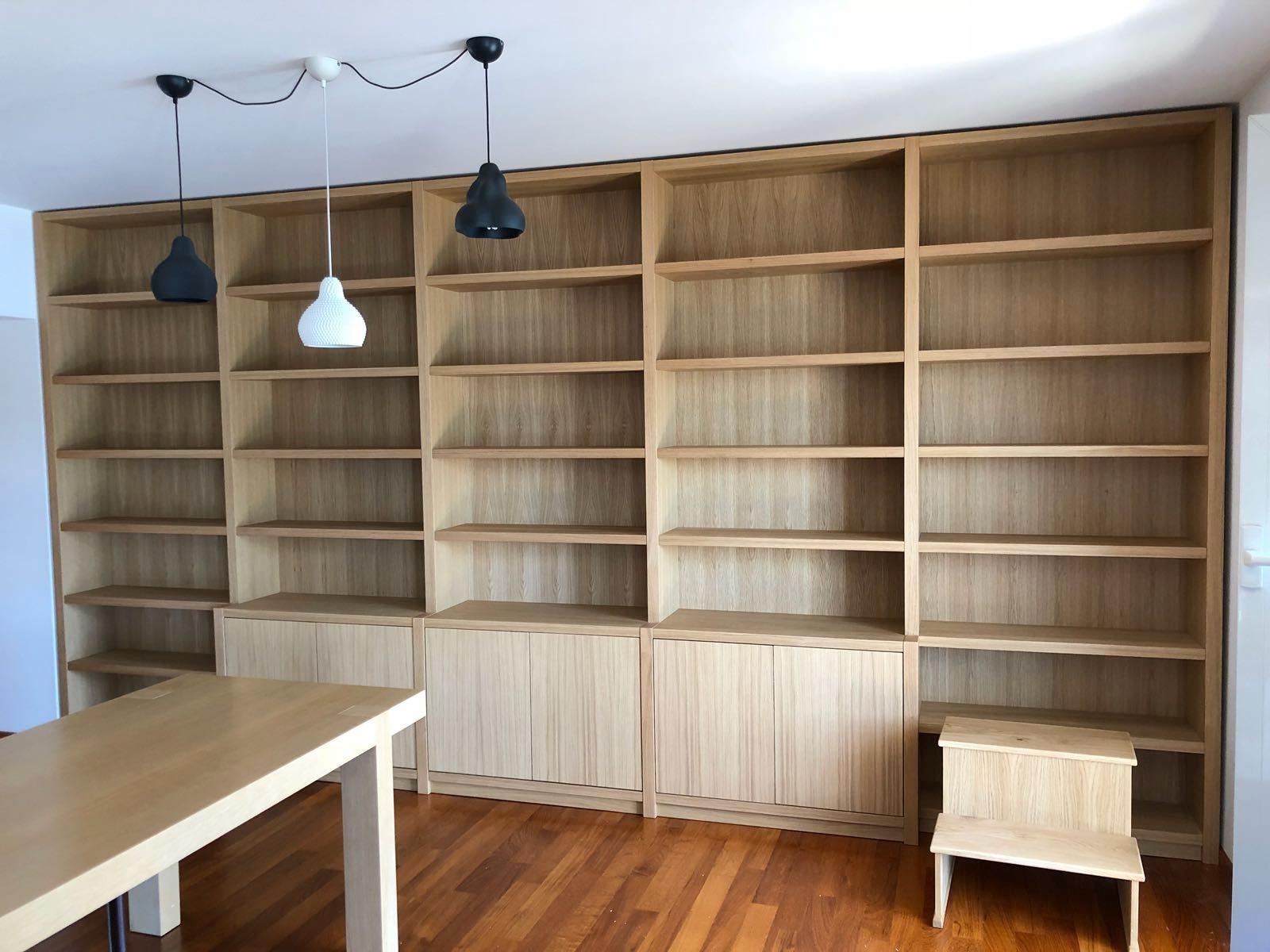 librerie in legno rovere Roma