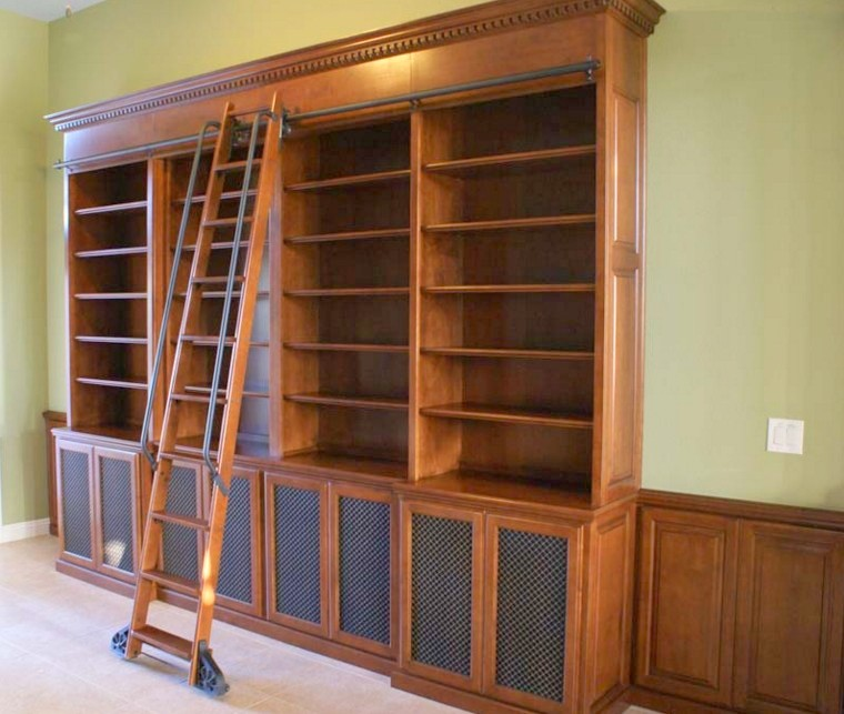 arredamenti in legno su misura librerie classiche
