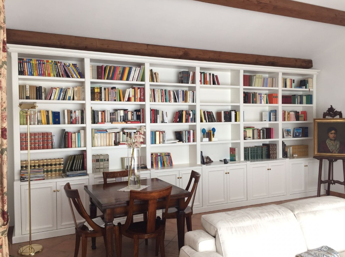 librerie laccate bianche