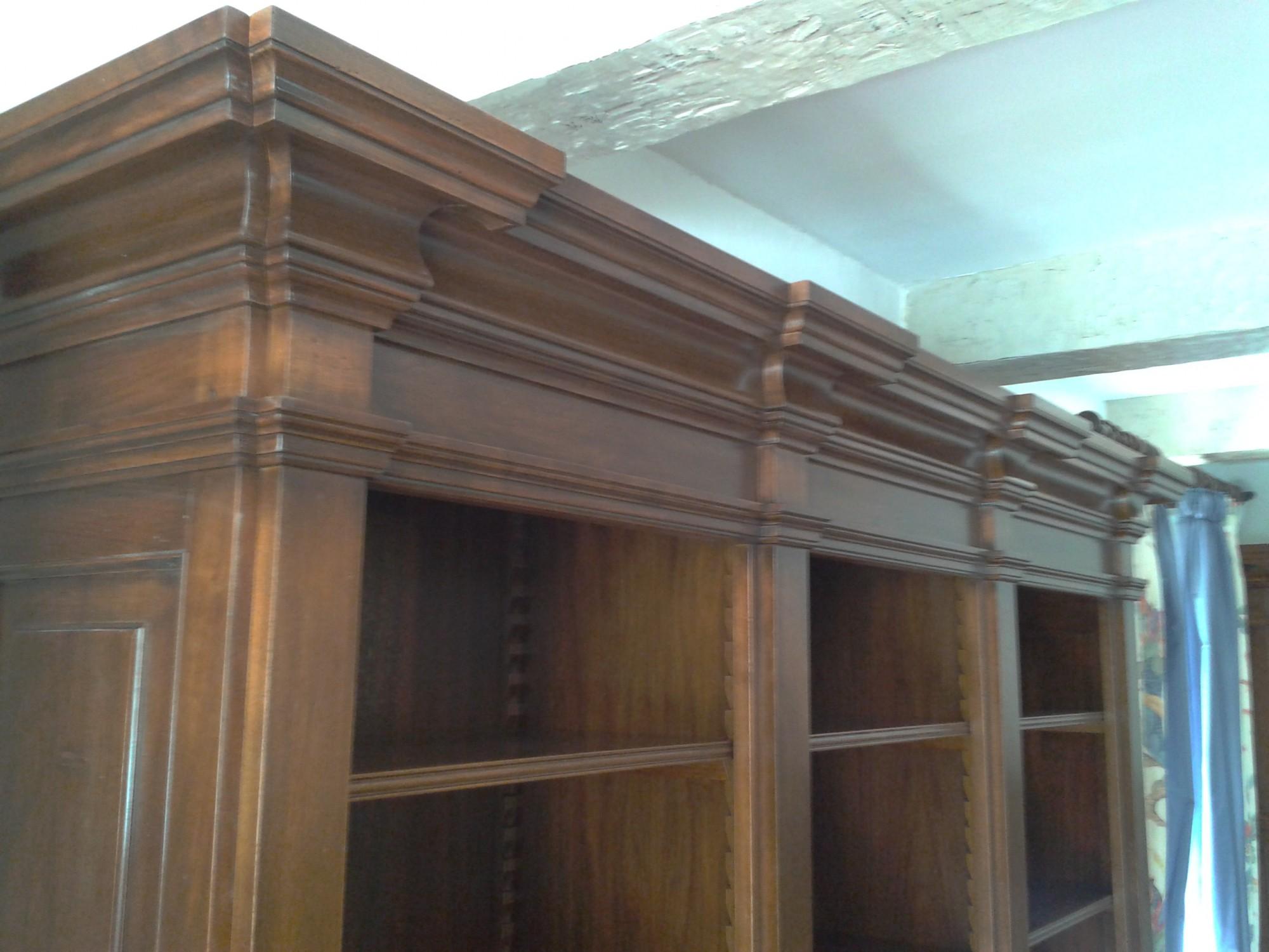 librerie su misura legno massello Roma