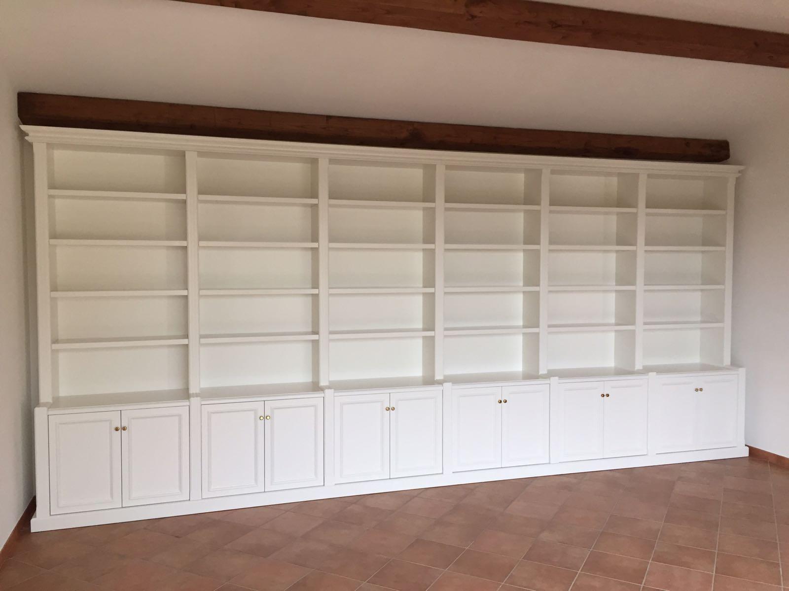 Librerie su misura laccate bianche