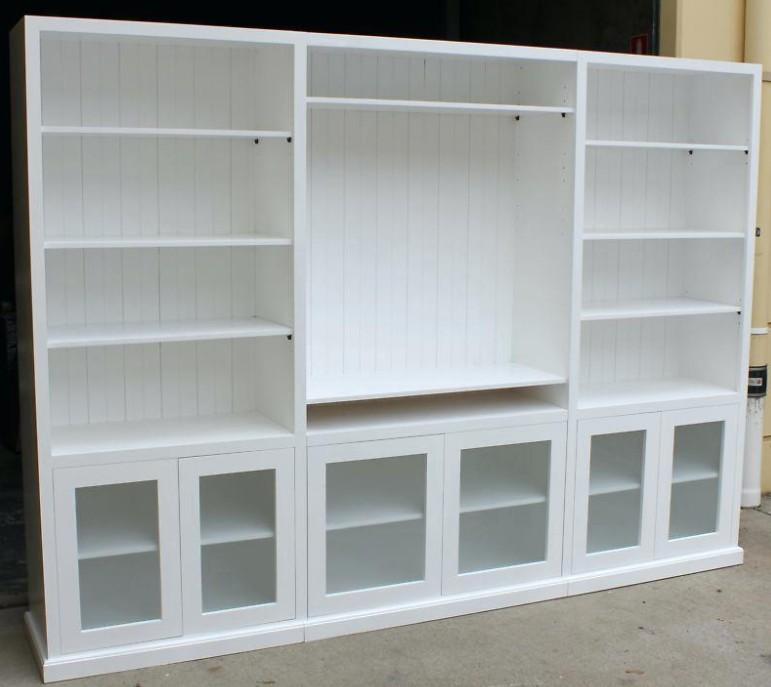 librerie su misura bianche
