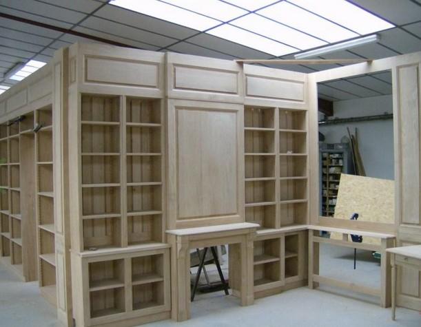 arredi biblioteca legno