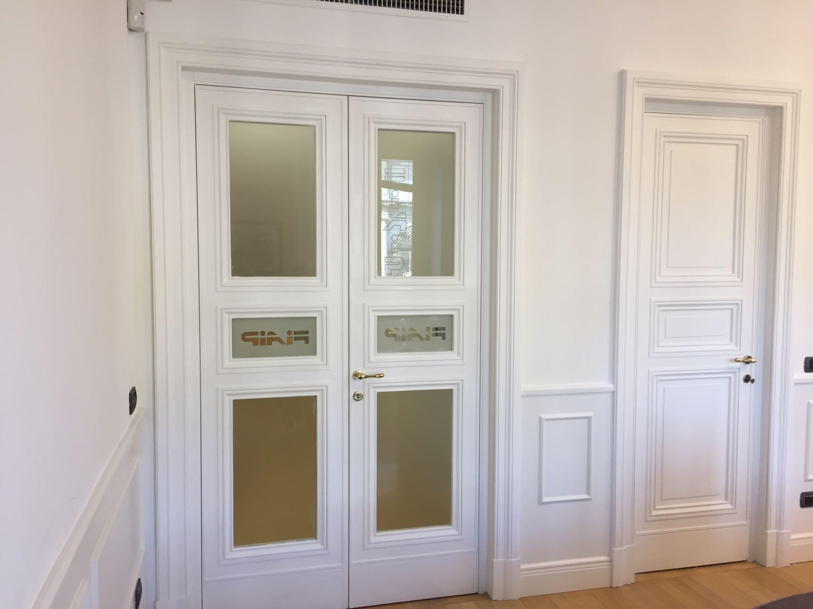 porta ingresso ufficio con vetri roma ESCAPE='HTML'