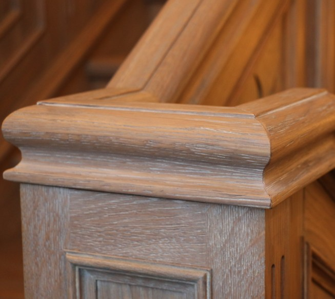 Ringhiera in legno massello Roma ESCAPE='HTML'