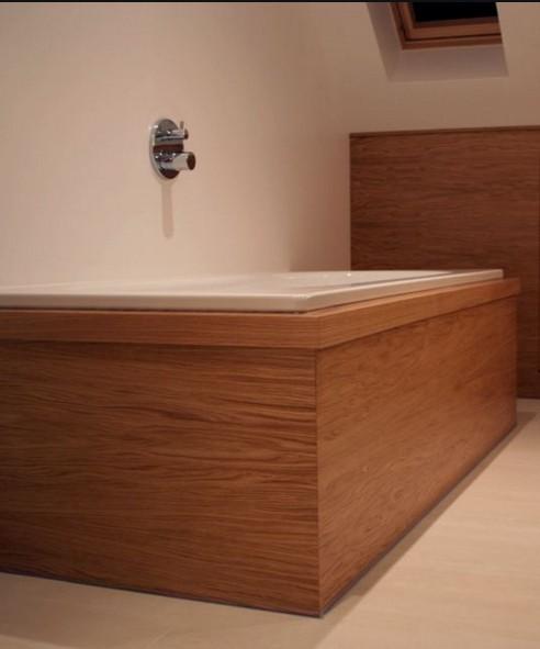 Rivestimento vasca in legno Roma