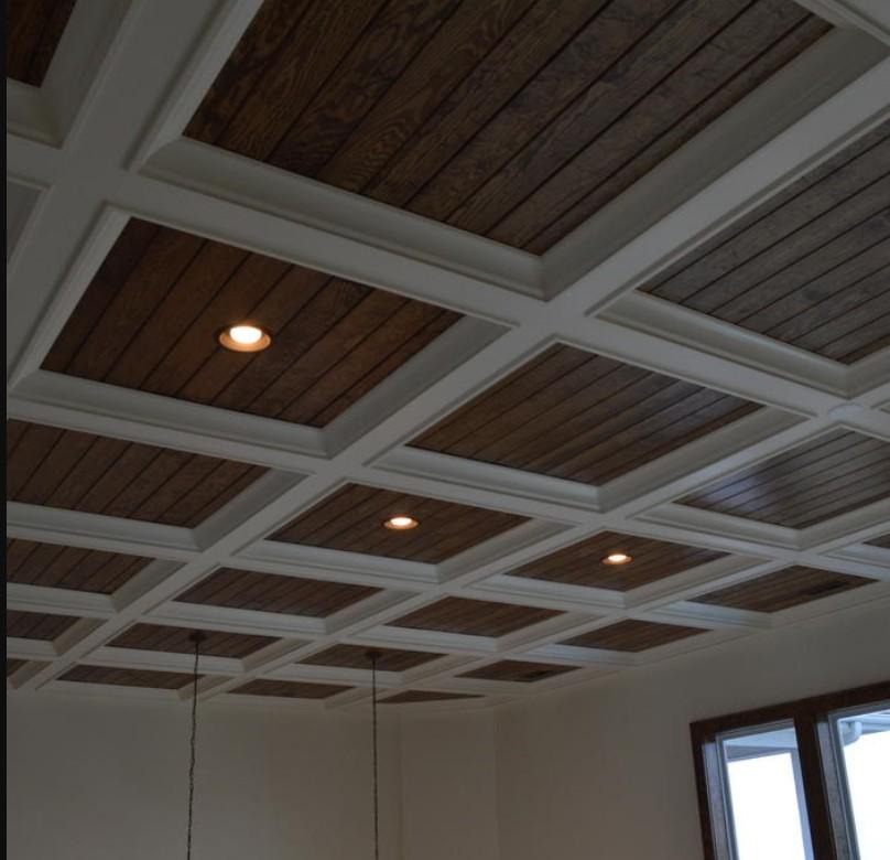 soffitto a cassettoni in legno