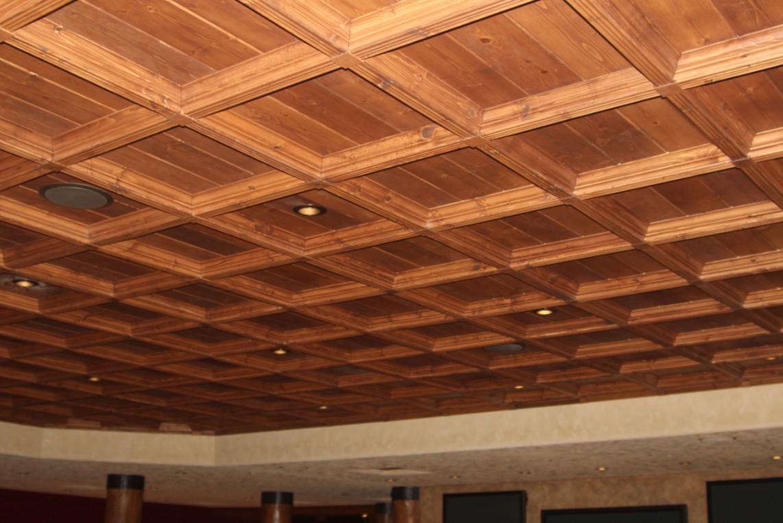 soffitti a cassettoni n legno