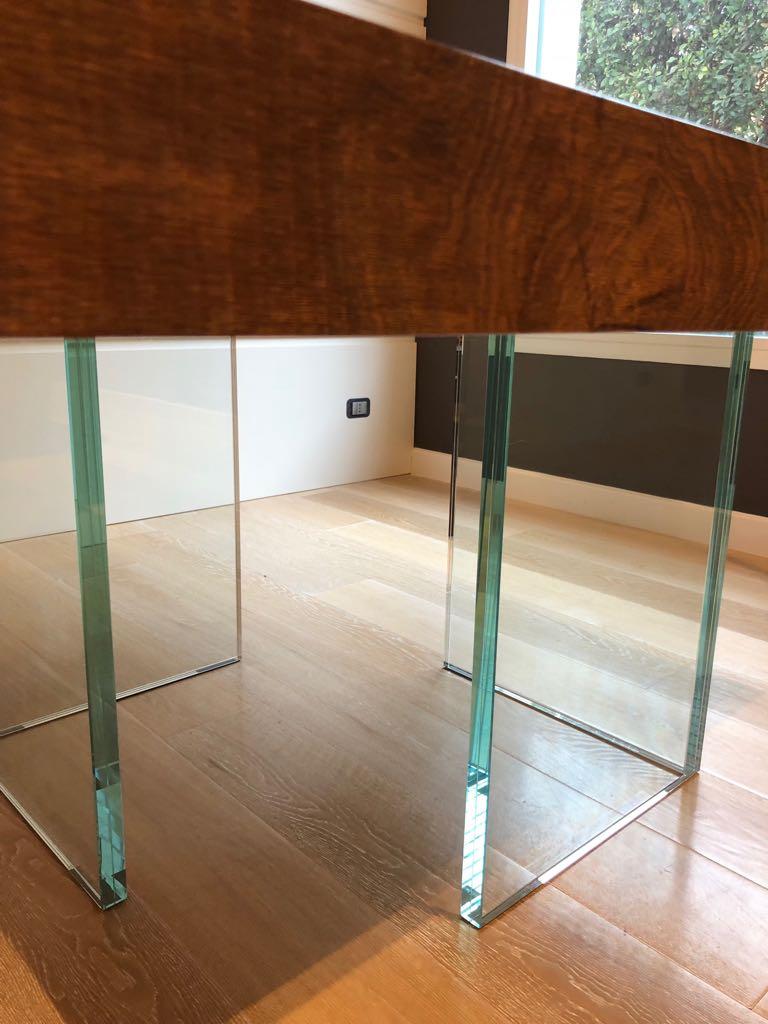 tavolo moderno legno e cristallo ESCAPE='HTML'