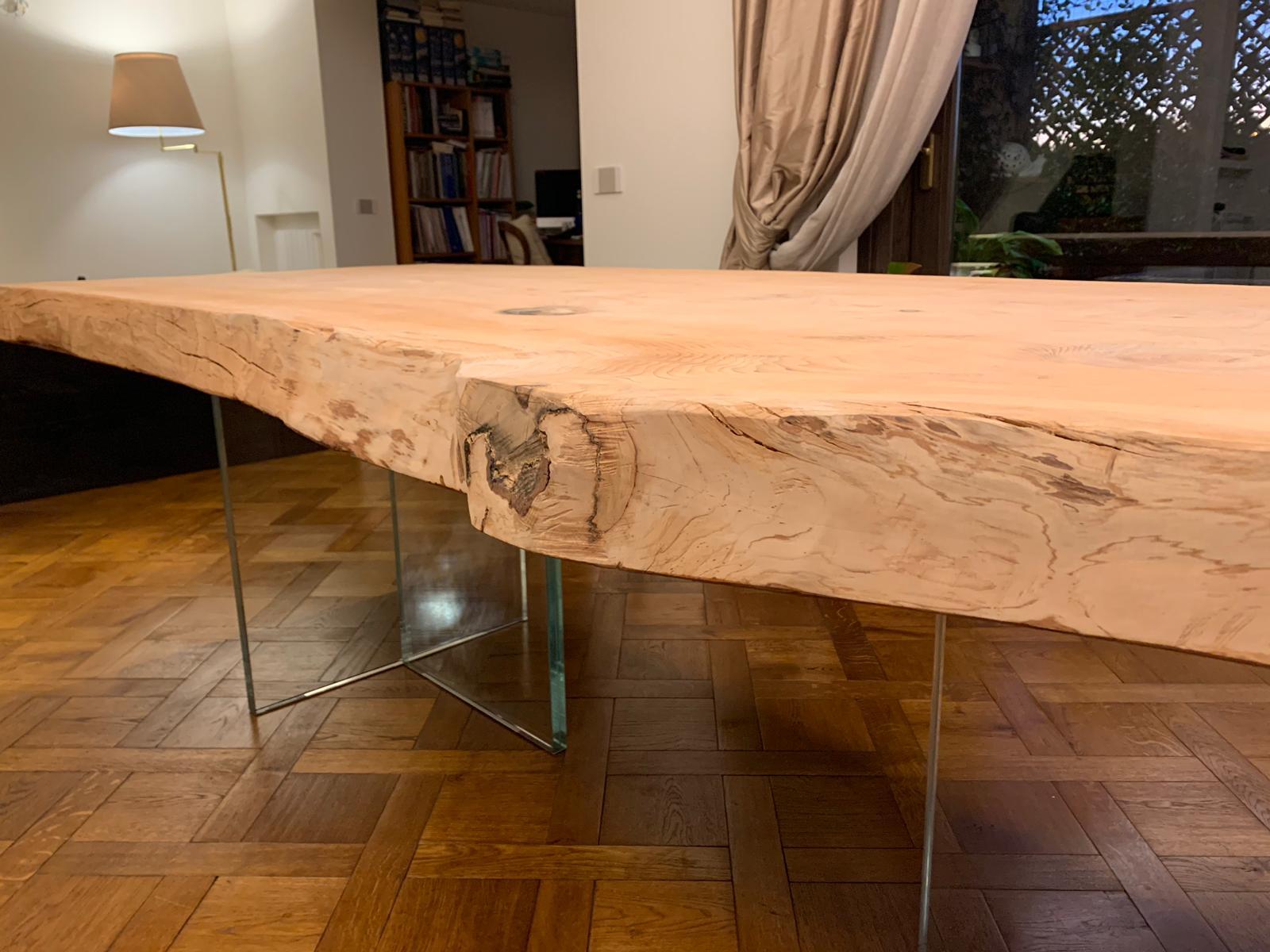 tavolo piano legno corteccia ESCAPE='HTML'